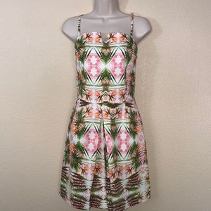 NWT  INC Tropical Floral Print Romper with Pockets